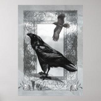 Art victorien gothique d'imaginaire de Raven Poster