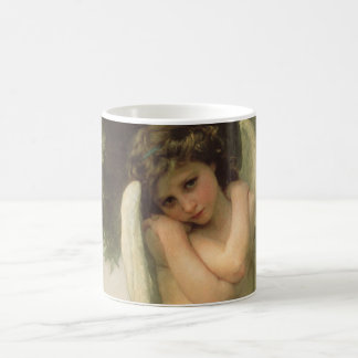 Art victorien vintage d'ange, cupidon par mug blanc