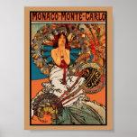 Art vintage Alfons Mucha Monaco Monte Carlo