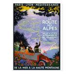 Art vintage d'affiche de voyage de Français Cartes Postales