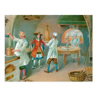 Art vintage d'annonce de nourriture de boulangerie carte postale
