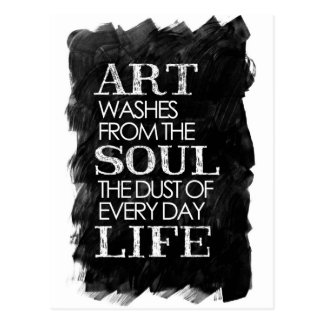 Art washes from the soul postcard