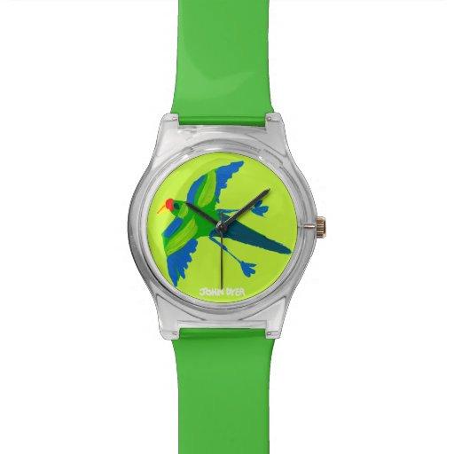 Art Watch: John Dyer Green Australian Parrot