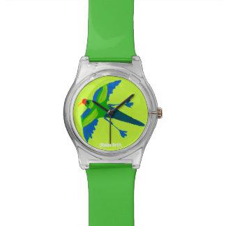 Art Watch: John Dyer Green Australian Parrot Wrist Watch
