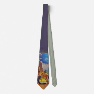 Art West Designer Tie, Yellow Truck & Blue Planet Tie