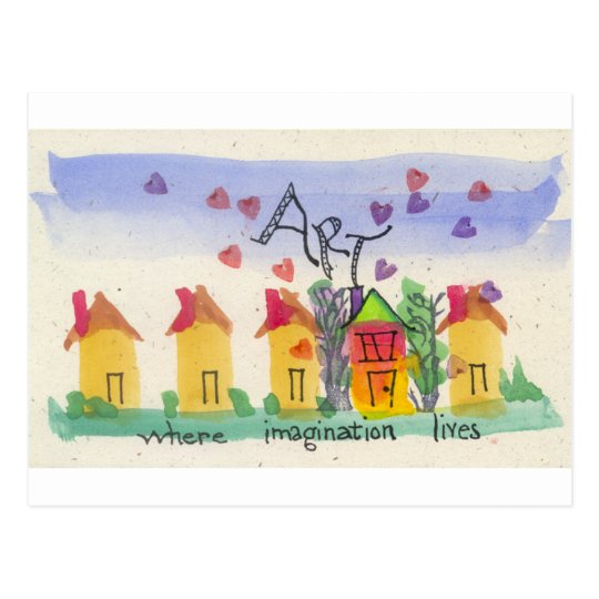 Art Where Imagination Lives Postcard