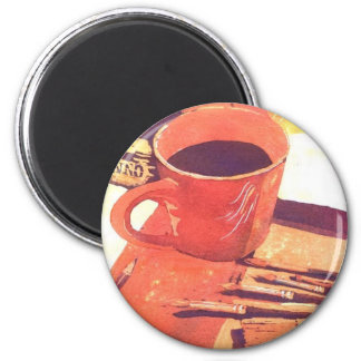 Art with coffee magnet