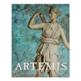 Artemis Greek Goddess Poster