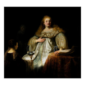 Artemisia by Rembrandt 1634 Poster