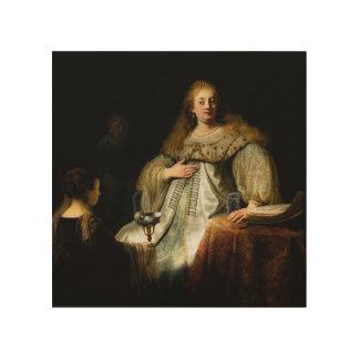 Artemisia by Rembrandt 1634 Wood Prints