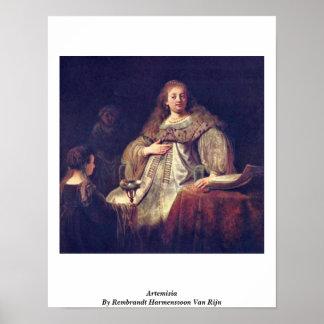 Artemisia By Rembrandt Harmenszoon Van Rijn Poster