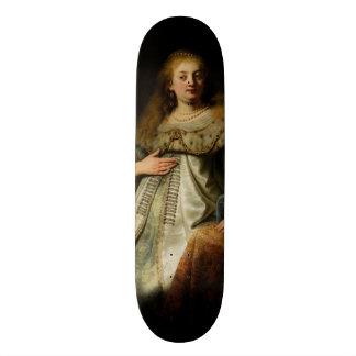 Artemisia by Rembrandt van Rijn Skate Deck