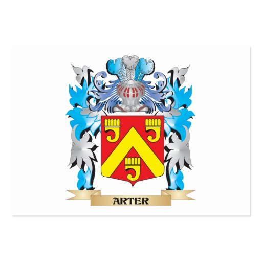 Arter Coat Of Arms Business Card Template