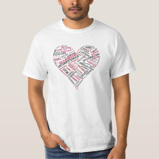 Arteriovenous Malformation Word Heart Shirt