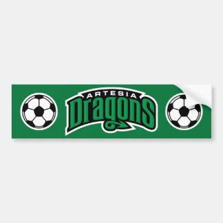 Artesia Dragons Soccer Ball Bumper Sticker