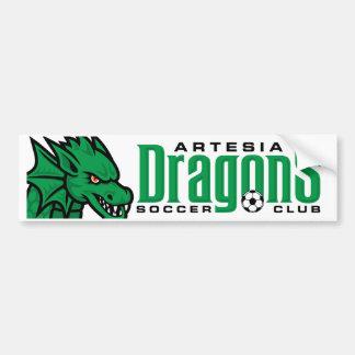 Artesia Dragons Soccer Bumper Sticker