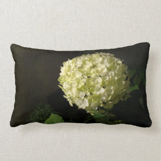 Artful Annabelle Hydrangea Bloom Lumbar Pillow