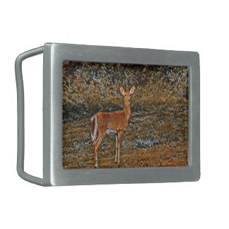 Artful Deer Belt Buckle