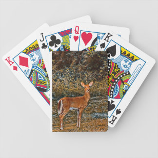 Artful Deer Bicycle Playing Cards