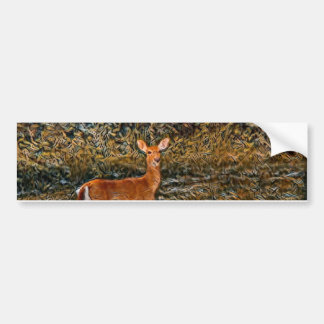 artful Deer Bumper Sticker