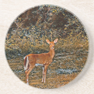 Artful Deer Coaster