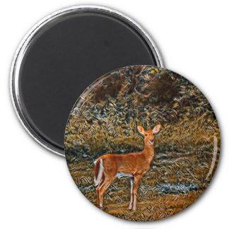 Artful Deer Magnet