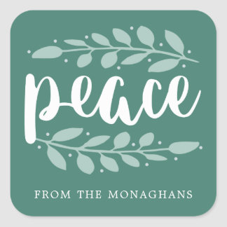 Artful Peace Personalized Holiday Stickers