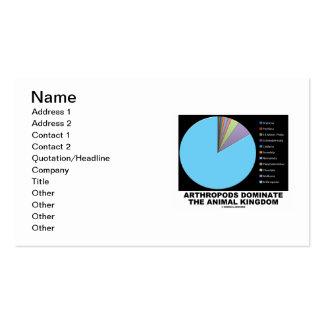 Arthropods Dominate The Animal Kingdom (Pie Chart) Business Card Templates