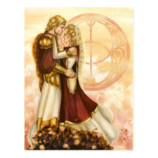 Arthur and Guinevere's Wedding Postcard