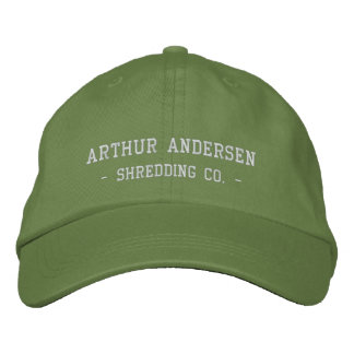 Arthur Andersen, - Shredding Co. - Embroidered Hat