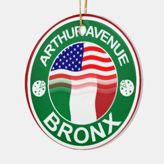 Arthur Ave Bronx Italian American Ceramic Ornament