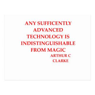 arthur c clarke quote postcard