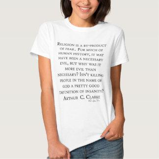 Arthur C Clarke sur la religion Tshirts