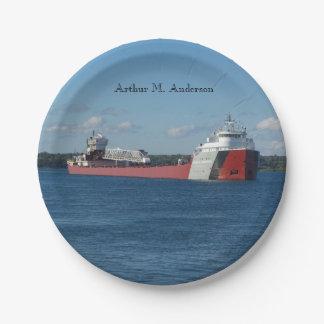 Arthur M. Anderson paper plate