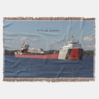 Arthur M. Anderson throw blanket