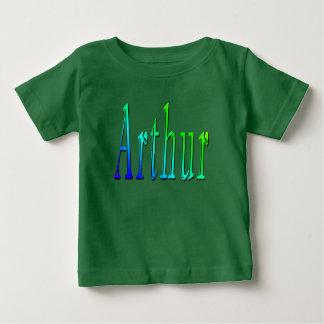 Arthur, Name, Logo, Baby Boys Green T-shirt. Baby T-Shirt