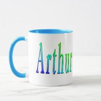 Arthur, Name, Logo, Blue Combo Coffee Mug. Mug