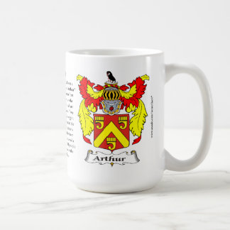 Arthur name, the Origin, the Meaning and the Crest Coffee Mug