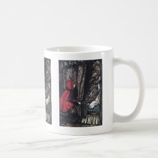 "Arthur Rackham, ""Little Red Riding Hood"" Coffee Mug"