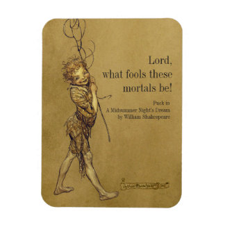 Arthur Rackham Puck Lord what fools CC0951 Fridge Magnet