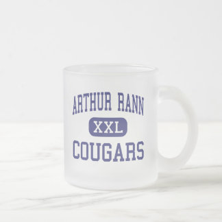 Arthur Rann Cougars Middle Absecon Frosted Glass Coffee Mug