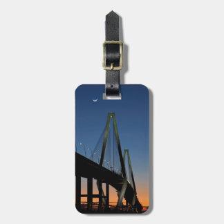 Arthur Ravenel Jr. Bridge at Dusk Luggage Tag