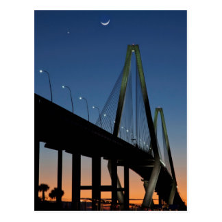 Arthur Ravenel Jr. Bridge at Dusk Postcard