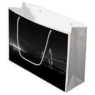 Arthur Ravenel Night Pano Grayscale Large Gift Bag