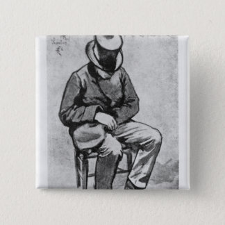 Arthur Rimbaud 2 Inch Square Button