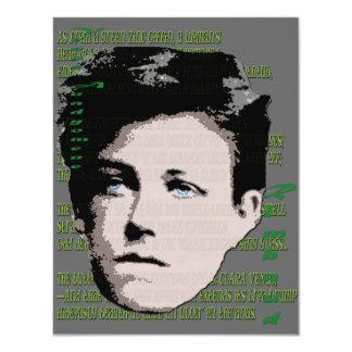 "Arthur Rimbaud 4.25"" X 5.5"" Invitation Card"