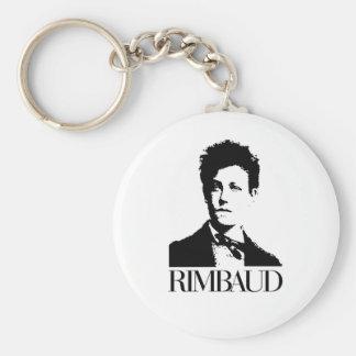 Arthur Rimbaud Basic Round Button Keychain