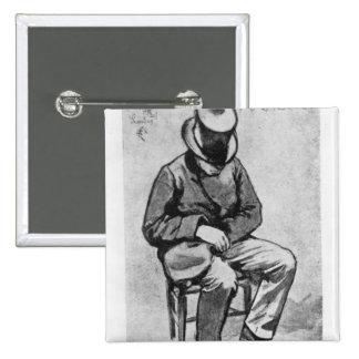 Arthur Rimbaud 2 Inch Square Button