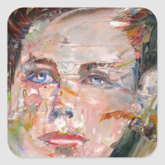 ARTHUR RIMBAUD - oil portrait Square Sticker