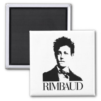 Arthur Rimbaud Square Magnet